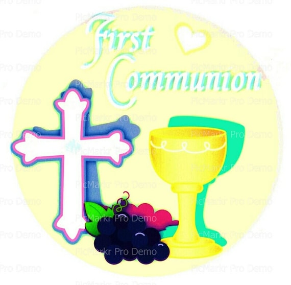 First Communion Edible Cake and Cupcake Topper For