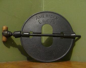 ERIE Pa. stove damper 1910s