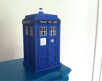 "Doctor Who inspired 8""  Handmade TARDIS"