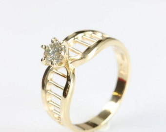 Diamond Engagement Ring 0.40 ct-Solitaire ring-14K Yellow Gold -Women Jewelry-Promise ring-Bridal Jewelry-Anniversary-Wedding & engagement