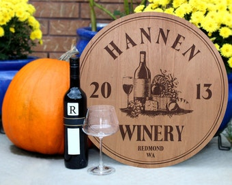 Personalized Winery Sign