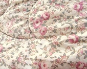 Cozy Lan-a-Down pink floral quilt, vintage quilt, cotton quilt, vintage textiles, antique quilt
