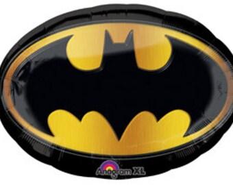 "27"" Super Shape BATMAN SIGNAL Foil Balloon birthday party supplies favors decorations movie DC Comics super hero"