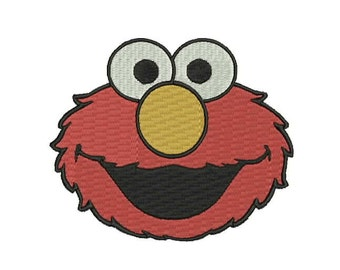 Elmo  Filled Embroidery Design