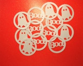 12 Die Cut Halloween Embellishments Ghost and BOO!!!