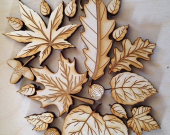 Rustic Wooden Fall Leafs