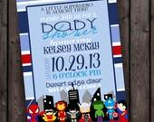 superhero baby shower invitation, customized wording, digital printable file