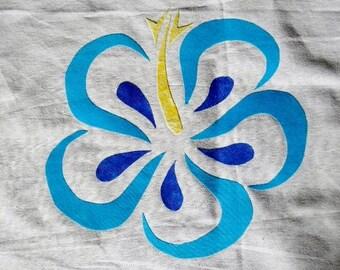 Hawaiian Flower Quilting Applique Pattern Design