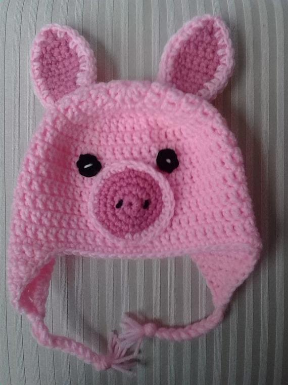 Crochet Pattern Pig Hat : Crochet Pig Hat / Animal Hat