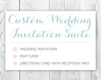 Custom Wedding Invitation Suite Printable / Wedding Invitation Design