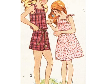 Simplicity Sewing Pattern 9987 Girls Jumpsuit, Sundress   Size 10   Used