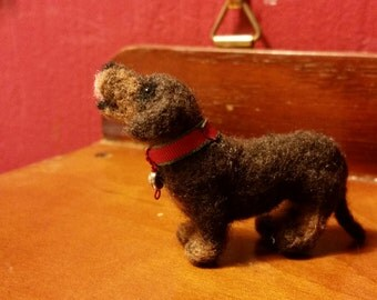 Dachshund, brown, miniature, needle felted wool