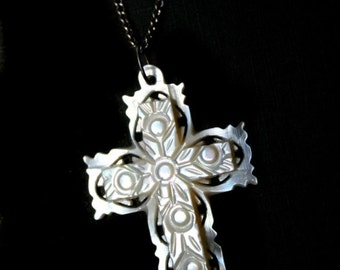 Vintage Mother of Pearl Cross