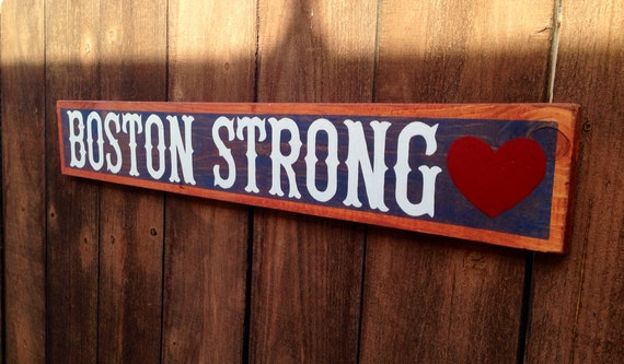 Boston Strong Wall Decor By Fromkellywithlove On Etsy