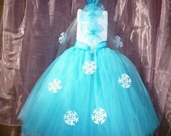 Frozen dress, Frozen party dress,frozen tutu dress,Elsa dress, Elsa tutu dress,Elsa party dress,Queen Elsa dress, Frozen Elsa birthday dress