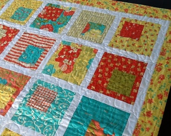Block in a Square Baby Quilt