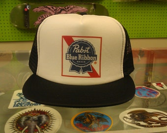 PBR trucker hat color label