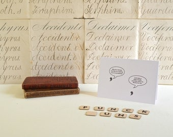 Punck Puns Greeting Card: Apostrophe and Comma