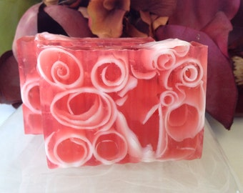 Soap - Pomegranate Vanilla Soap- handcrafted glycerin soap - scented soap - Soap Gift