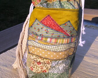 Mountain Dufflebag Reversable Tote for the Gypsy, Boho, or Country Girl