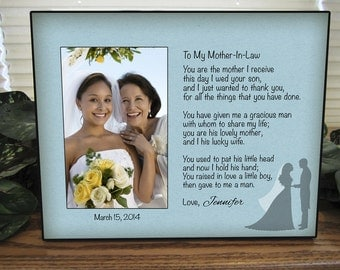 Mother In Law Gift, Personalized Mother In Law Picture Frame