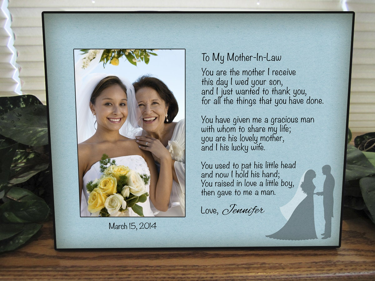 Wedding Gift For Mother In Law: Mother In Law Gift Personalized Mother In Law Picture Frame