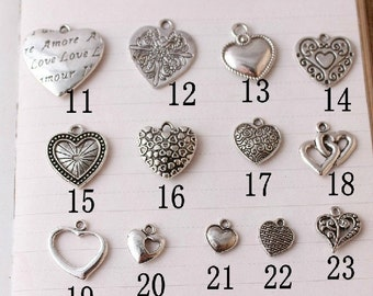 Double Sided Heart Charm Collections