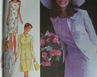 Misses Dress and Jacket sizes 8-10-12-14-16-18 Style by Simplicity 1996  Pattern #2809