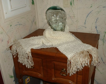 Hand Crafted Warm Winter Scarf Knitted