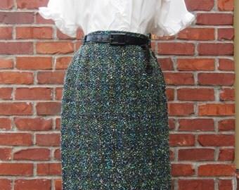 Vintage 1950's Boucle Pencil Skirt