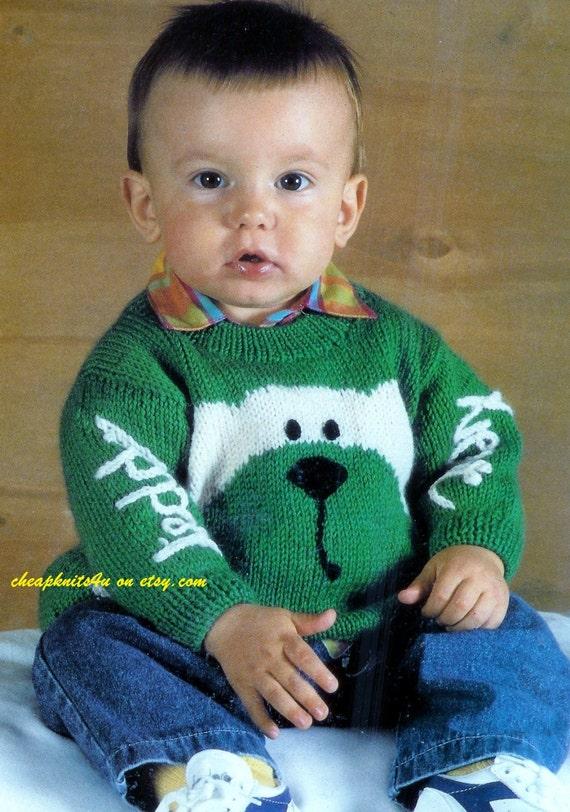 Knitting Pattern For Jumper For Teddy Bear : Babys Teddy Bear Jumper / Sweater in DK 8 ply yarn for