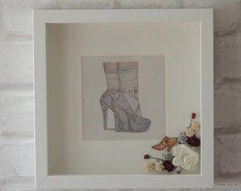 shadow box frame etsy uk. Black Bedroom Furniture Sets. Home Design Ideas