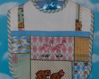 NEW Original Design Noah's Ark Boutique Style Baby Bib with Coordinating Burp Cloths and Nightlight