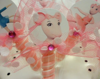 10 Angelina Ballerina Inspired Lollipops. party favors goodie bags birthday party baby shower dance recital