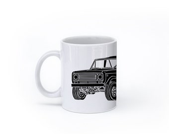 KillerBeeMoto: U.S. Made Limited Release Vintage Off Road Vehicle Truck Coffee Mug (White)