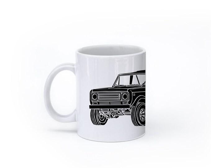 KillerBeeMoto: U.S. Made Limited Release Vintage Off Road Vehicle Truck Coffee Mug (White)