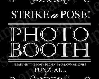 Wedding PhotoBooth Sign INSTANT DOWNLOAD, Digital Photo Booth Sign, Printable