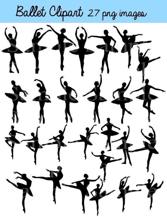 ballet silhouette digital clipart instant download