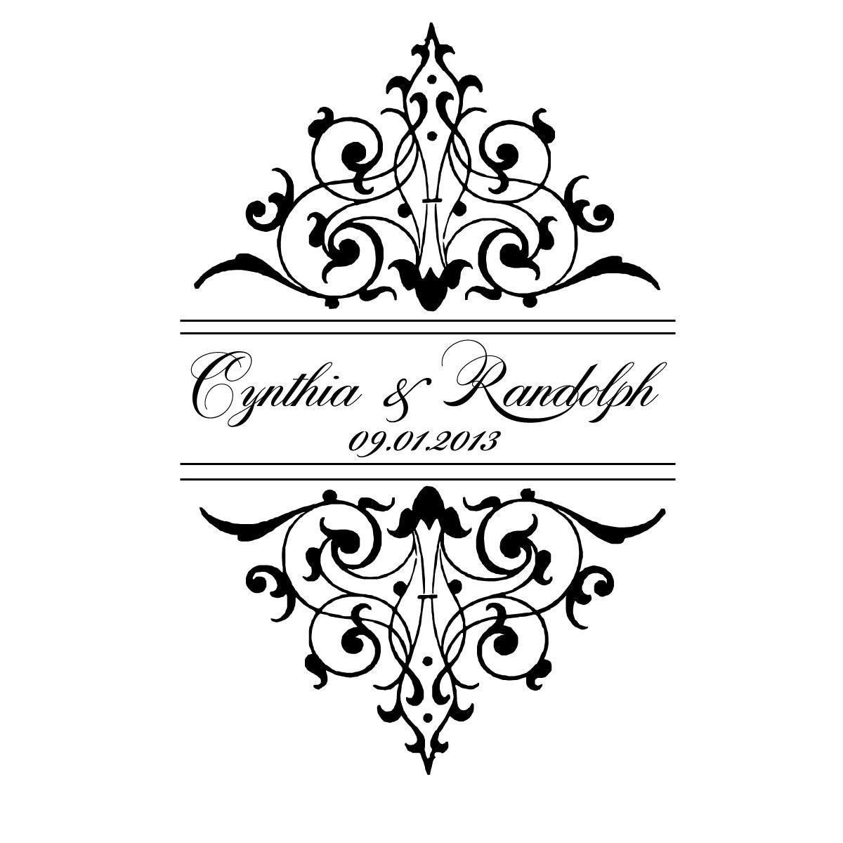Wedding Monogram: Digital Wedding Monogram Wedding Logo Custom Wedding