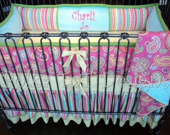 4 Piece Crib Set for Baby Girl