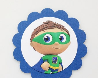 SUPER WHY! Gift Tags/Cupcake Toppers (12ct)