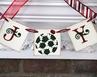 Joy banner • Christmas banner • Christmas garland