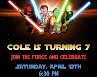 Star Wars Lego Invitation