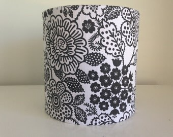 Black and white flower print lampshade (FREE SHIPPING)