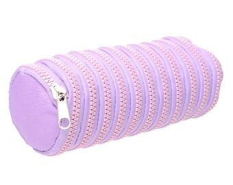 Lavender Round Zipper Case