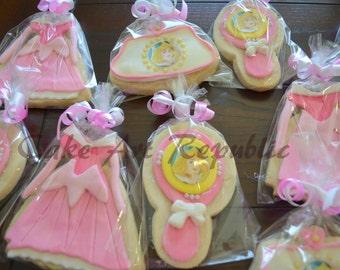 Sleeping Beauty Inspired COokies 12 pcs.