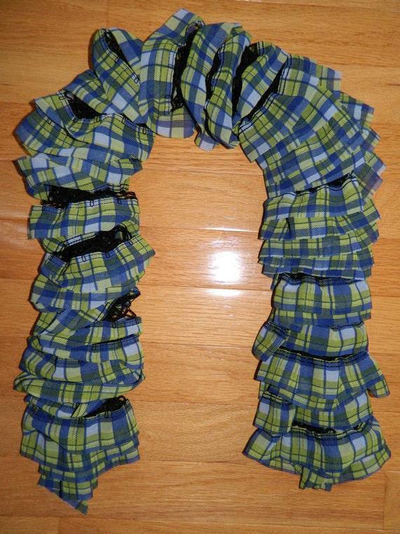 Hand Crochet Premier Yarns Starbella Plaid Fashion Scarf ...