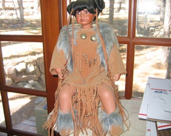 Native American Doll, Collectible Doll, Navajo Doll, Vintage Doll, 50% OFF!! convo me and I will adjust price