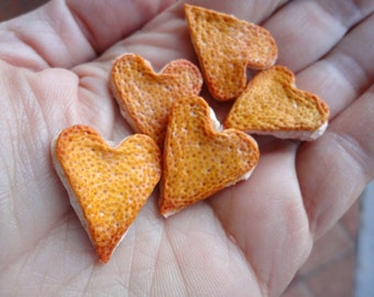 Hearts of grapefruit and Orange Scented decorations, dried natural applications. Valentines, engagement, wedding.
