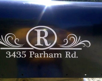 Personalized mailbox decal